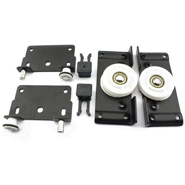 Wardrobe & Cabinet Sliding Door Rollers with Damper-TWI Fasteners & Hardware